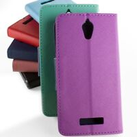 Wallet Flip Pouch Phone Carrying Cover Case w/ Screen Protector for ZTE Obsidian
