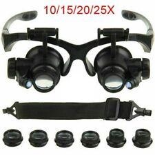 25X Lupe Austauschbar Reparaturset Uhr Vergrößerung Werkzeug Brille Juwelier