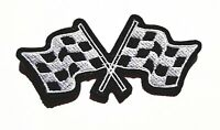 Racing Flag Iron On Patch Sew On Embroidered Patch T shirt Jacket Patch