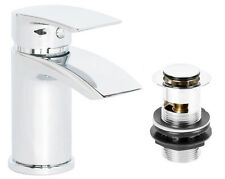 Coll Single Lever Basin Mixer Low Pressure Tap Click Clack Slotted Waste