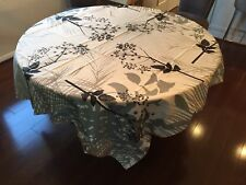 "Beauville Caucase Graphite 67x67"" Square Tablecloth 8 Napkin Made in France $468"