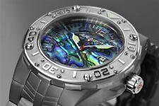 Aragon Men's Enforcer Automatic ABALONE IP GRAY Bracelet Watch 24J Helium Valve!