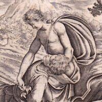 Gravure XVIIIe Hyacinthe Hyacinth Mythology Hyakinthos Υάκινθος Zéphyr Borée