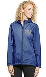 '47 Brand Women's New York Giants React Full Zip Hooded Jacket Jersey Small S