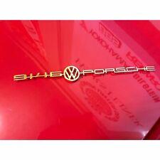 914-6 GT PORSCHE - 914 6-VW-PORSCHE GOLD EMBLEM DECKLID GERMAN # 91455911110
