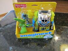 Fisher Price Imaginext Doc Exosuit Exo Suit robot vehicle Dinosaur Raptor NEW