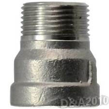 "Nipple 304 Stainless Steel 1/2"" Female x 1/2"" Male Bushing Pipe Fitting NPT"