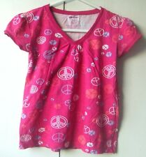Old Navy Children's Light Mauve T-shirt with Steering Wheel Pattern - Excellent