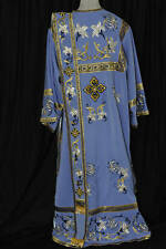 Orthodox Deacon Vestment Embroidered Blue Stones