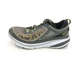 Hoka One One Bondi 4 Men's Size Running Shoes 1007863 GCCY Gray Yellow Size 9.5