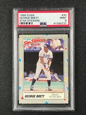 1988 Fleer Star Stickers George Brett PSA 9 Kansas City Royals