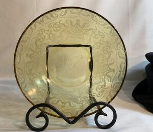"Vintage Federal Glass AMBER Madrid Depression Glass 9 1/4"" x 4"" Serving Bowl"