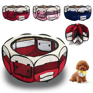Large Foldable Soft Fabric Dog Crate Cat Cage Pet Travel Puppy Play Pen Tent UK