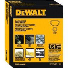"""Dewalt Galvanized 11/16"""" Hog Rings 1000 Per Pack 21375"""