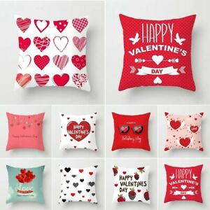Valentine's Day Throw Cushion Cover Sofa Waist Pillow Case Home Decor Lover Gift