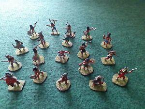 Conquest Old Wild West COMANCHE Plains Indians 28mm Painted Wargames figures