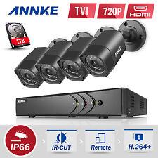 Annke 1080P Lite 8Ch H.264+ Dvr 4 Tvi Outdoor Home Security Camera System 1Tb