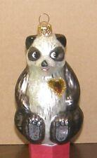 "Christopher Radko ornaments 1996Aids Panda ""A Winter Bear'S Heart"""