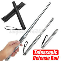 "19.2""Telescopic Defense Steel Stick Rod Safe Walking Security Emergency Portable"