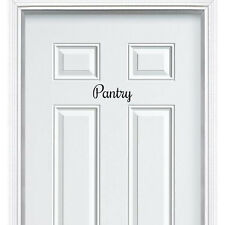 Pantry Vinyl Decal Sticker for Kitchen Pantry Room Wall Door Decor Art Furniture