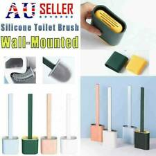 Silicone Toilet Brush with Toilet Brush Holder Creative Cleaning Brush Set NEW