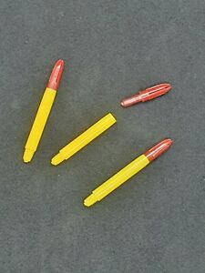 Vintage Tru Lon Dart Stems Ultra Rare Yellow And Red