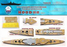 Shipyard 1/700 700028 Wood Deck HMS Hood 1931 for Trumpeter