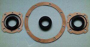 MORRIS MINOR rear axle seal set (3 gaskets, 5 seals).