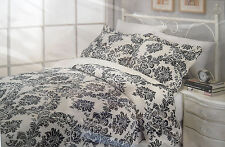 LUXURY ROYAL PARIS FLEUR DE LIS ROSETTE FULL/QUEEN MULBERRY HILLS 3PC QUILT SET