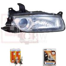 Headlight Right Mazda 323F Year 09/94-09/98 H1+H1+H3 Incl. Philips Lamps