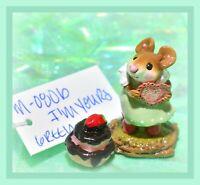 ❤️Wee Forest Folk M-080b I'm Yours Green Glitter Heart Valentine Retired WFF❤️