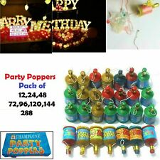 12 48 144 288 Pcs Confetti Party Poppers Accessories Decorations Bag Filler Fun