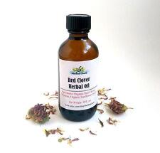 Organic Red Clover Herbal Body, Bath, Skin, Beauty Oil, Breast Care Massage Oil