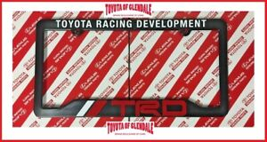 TRD TOYOTA RACING DEVELOPMENT LICENSE PLATE FRAME (FAST SHIPPING) 67894-00920