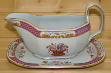 "Spode Lord Calvert Y5351 Gravy Boat or Sauce Bowl & Underplate, 7 1/4"" x 5 1/4"""