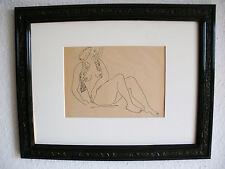 Weiblicher Akt, Originalzeichnung Tusche, Im Stil Picasso, Matisse, Weinstrasse,