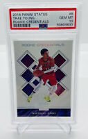 2018-19 PANINI STATUS TRAE YOUNG ROOKIE CREDENTIALS #8 ROOKIE/RC PSA 10 GEM LUKA
