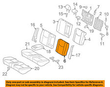 TOYOTA OEM 2012 Prius Rear Seat-Seat Cover-Top Back Left 7107847250B5