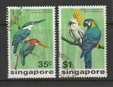Singapore, 1975 Birds top 2vals FU SG 262/3