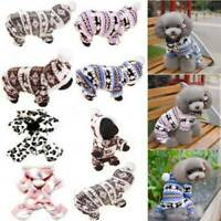 Pets Dog Jumpsuit Pajamas Hoodie Puppy Cat Jumper Warm Clothing Costume Cosplay☆