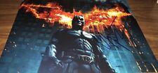 Christian Bale Batman The Dark Knight Wow Signed 11x14 Photo COA Proof 10