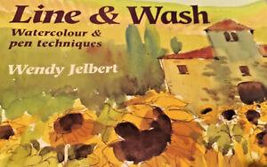 Line & Wash Watercolour & pen techhniques - Art technique book