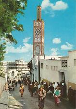 TANGER postcard  ; 1970s vintage STREET SCENE + MOSQUE