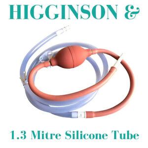 Enema Bulb Syringe Higginson Pump In Line Accelerator + 1.3 Mitre Silicone Tube