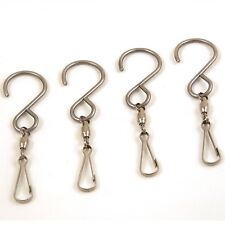 4 Swivel S Hooks for Wind Spinners or Holiday Decor