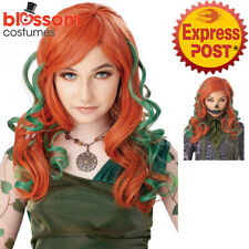 W738 Pumpkin Vines Poison Ivy Devil Red Long Halloween Costume Party Wig Hair