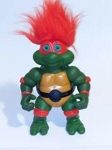 """GIANT Turtle """"Trolls"""" Raphael Teenage Mutant Ninja Turtles 13"""" Doll Very Rare!"""