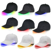 Top LED Flashing Lighted Up Hat Baseball Hip-Hop Adjustabl Sports Club Party Cap