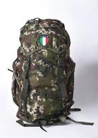 Zaino escursione militare vegetato 25 LT 45x30x18, camo rucksack pack with patch