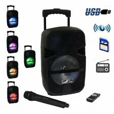 """NEW*beFree Sound 8""""Portable*BLUETOOTH*DJ PARTY PA SPEAKER*with USB,SD,Lights,Mic"""